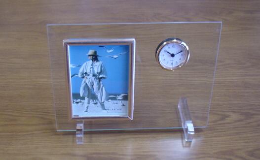 メモリアルフォトフレーム(板ガラス・時計付き)