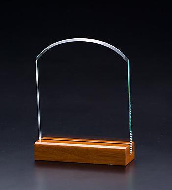 ガラス盾・アーチ M ブルーケース付