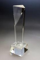 トロフィー三角錐    美麗ケース付