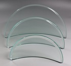 ガラス盾半月 翡翠(ひすい)色 Lサイズ