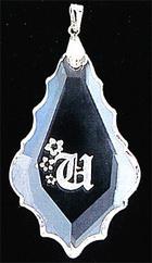 クリスタルペンダント リーフ(フラット)